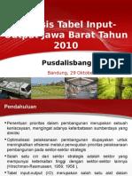 Analisis Tabel Input-Output Jawa Barat Tahun 2010