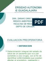 Evaluacion Preoperatoria Generalidades