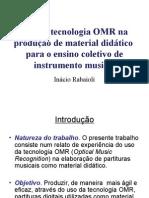 Uso Da Tecnologia OMR Na Produção de Material Didático
