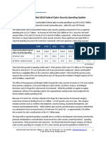 The Soter Group - Fiscal Year 2014 Federal Cyber Security Spending Update