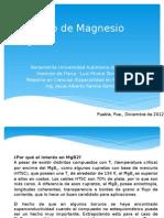 Comportamiento superconductor de MgB2