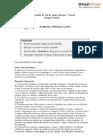 AD1 Metodologia e Projetos de Softwares
