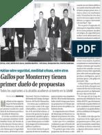 25-03-15 Gallos por Monterrey tienen primer duelo de propuestas.