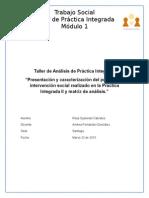 Modulo Uno Taller de Analisis de Practica Integrada
