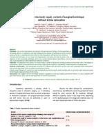 parastomal hernia mesh repair