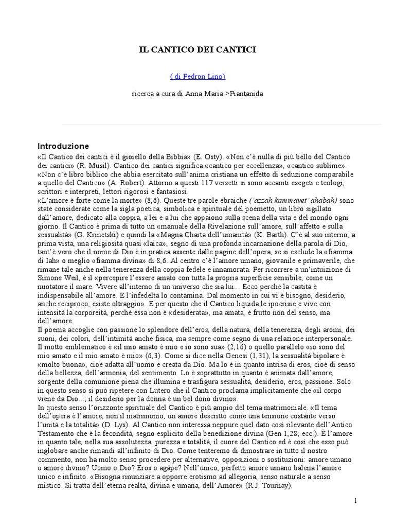 Frasi Matrimonio Cantico Dei Cantici.Il Cantico Dei Cantici Di Salomone