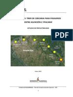 Tren de Cercania Prefactibilidad (1)