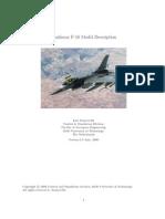 F-16 Dynamic model