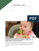 Alimentación Complementaria en Bebés
