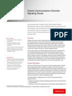 Communications Diameter Signaling Router