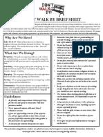 Brief Sheet - Don't Walk By