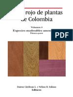 Libro Rojo de Plantas de Colombia Vol. 4 Parte 1