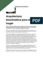 Arquitectura Bioclimática y Vernacula