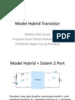 Model Hybrid Transistor BJT