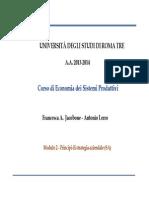 Economia dei Sistemi Produttivi 07 Strategia ESP 2014