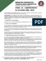 Bases Zonal Cuyano 2015