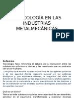 Toxicología en Las Industrias Metalmecánicas