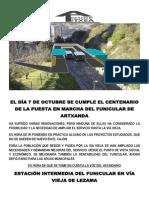Centenario de Funicular
