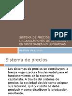 Sistema de Precios en Organizaciones de Servicios y Org No Lucrativas