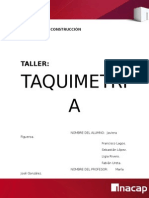 Trabajo de Taquimetria