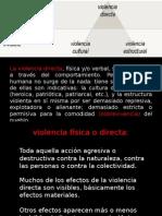 Galtung - tipos de violencia