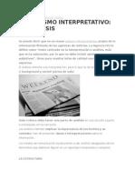 Periodismo Interpretativo El Análisis