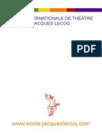 Ecole Jacques Lecoq Manual