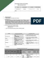 Esquema Programación Anual 2015