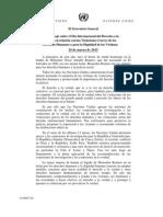 Carta de Naciones Unidas en homenaje a Mons. Romero