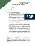 Reglamento Padel