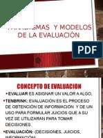 Paradigmas y Modelos de la Evaluación