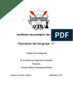Ejemplos Lenguaje c