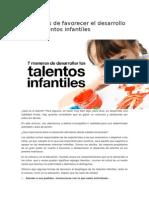 7 Maneras de Favorecer El Desarrollo de Los Talentos Infantiles
