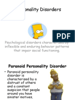 x  personality disorders