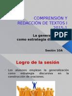 10A-ZZ03 La Generalizacion Como Estrategia Discursiva 15927
