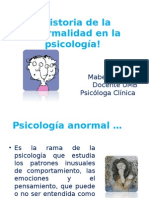 Historia de La Anormalidad en La Psicología
