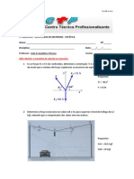 1º Exercício Resistência de Materiais - Estática- Ctp -Eletromecânica -r