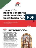 01. Rasgos y Materias Fundamentales de La Constitución Peruana