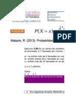 5 Ejercicios Walpole Poisson