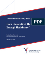 Does Connecticut Have Enough Healthcare?