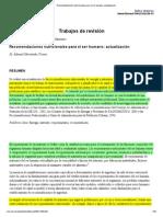 Recomendaciones Nutricionales Para El Ser Humano_ Actualización