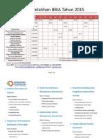 Jadwal Pelatihan BBIA Tahun 2015-1