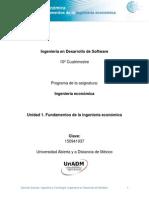 Unidad 1. Fundamentos de Ingeniería Económica