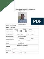 Formulario Para Aplicar a Prácticas Pre Profesionales 2014