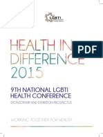 Health in Difference 2015 - Sponsorshop Prospectus