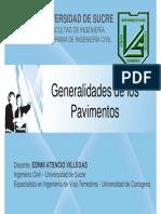 Unidad I -Generalidades Pavimentos