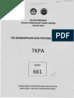 Soal TKPA 661