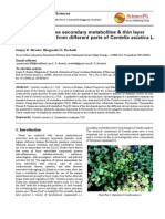Extraction of Some Secondary Metabolites & Thin Layer Chromatography From Different Parts of Centella Asiatica L.