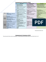 assessment timeline 2015