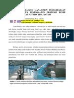 Perbaikan Manajemen Pemeliharaan Untuk Peningkatan Produksi Kakap Putih Di BPBL Batam